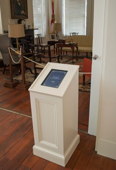 Interactive kiosk with audio player