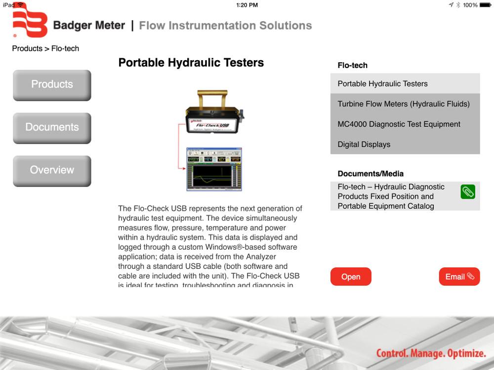 Custom sales presentation app