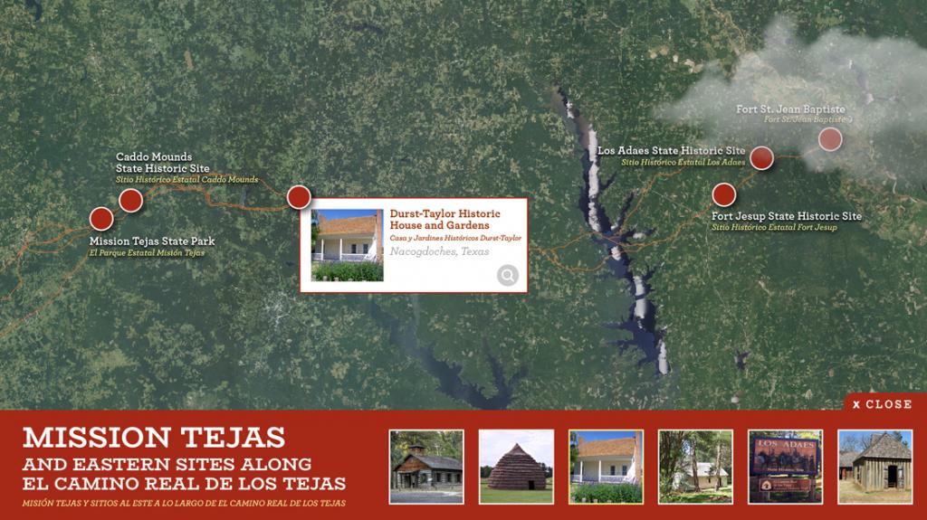 museum exhibit examples of interactive maps